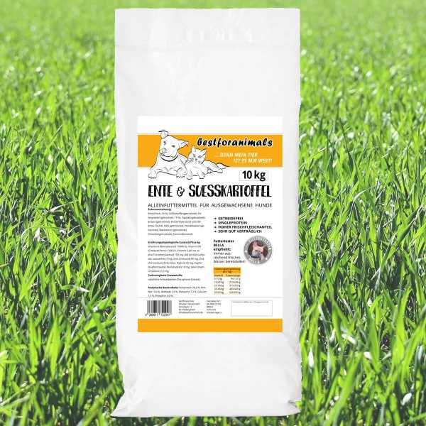 bestforanimals Dog Ente & Süßartoffel Adult 10 kg
